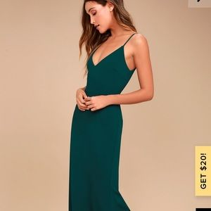 Lulu's Dresses - Lulus green maxi dress
